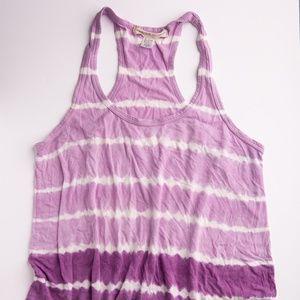 Small Solow Sport Sleeveless Tank • Purple Tie Dye